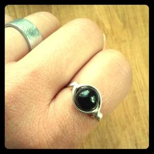Jewelry - Handmade Black Onyx Wire Ring
